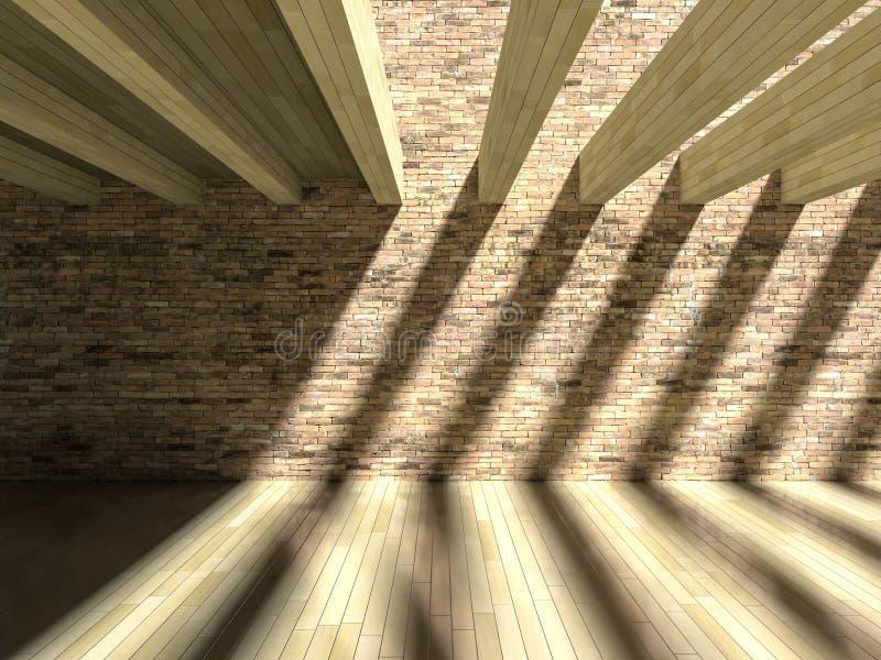 влияние тени 3D на стене & поле стоковая фотография