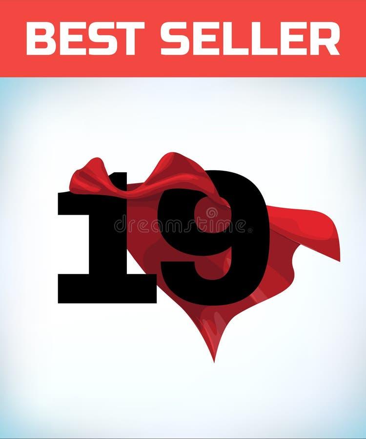 19 в красной накидке героя Супер плащ Сверхдержава Концепция силы Знак руководства Символ супергероя бесплатная иллюстрация