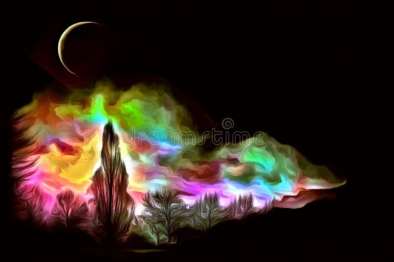 В лунном свете иллюстрация штока