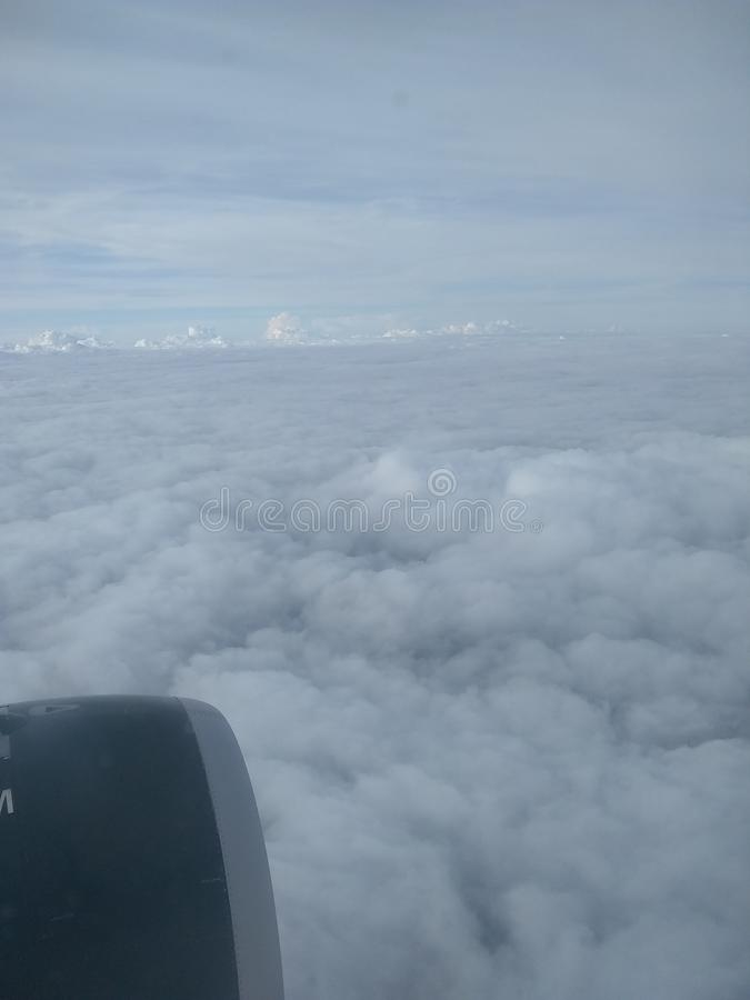 В облаках стоковые изображения