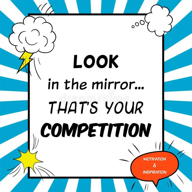 Вдохновляющая и мотивационная цитата нарисована в шуточном стиле иллюстрация вектора