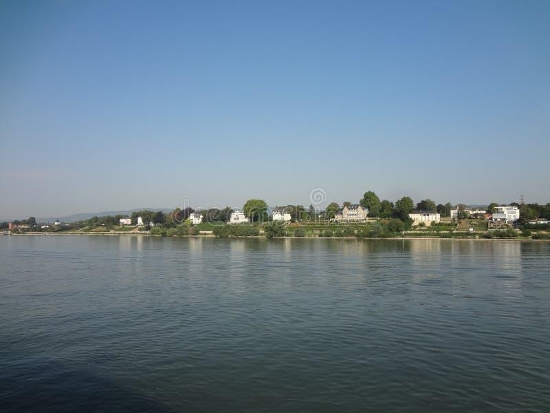 Вдоль реки Rhein стоковые фотографии rf