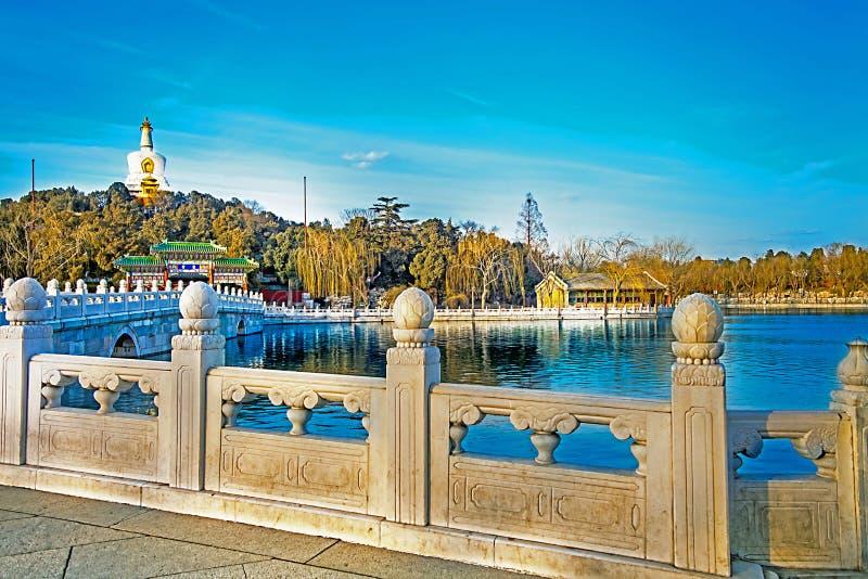 В парке Beihai в Пекине Китае стоковые фото