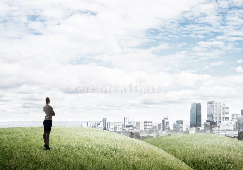 В поисках перспектив развития стоковые фото