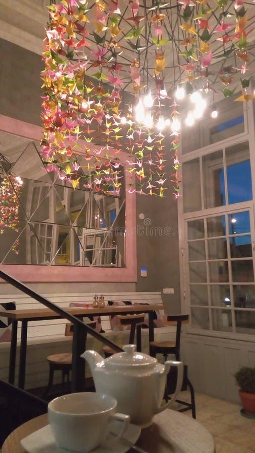В салоне кофе стоковая фотография rf