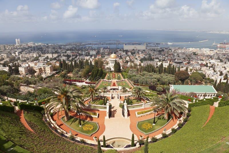 Сады Bahai, Хайфа, Израиль стоковая фотография rf