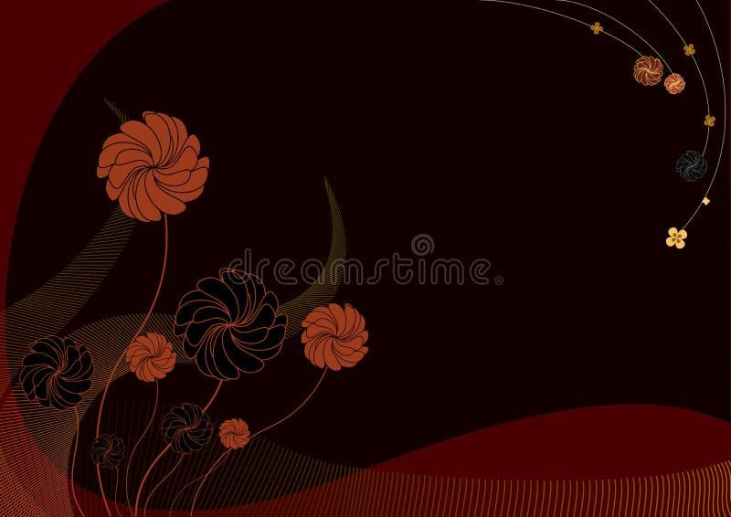 В стиле фанк цветки иллюстрация вектора