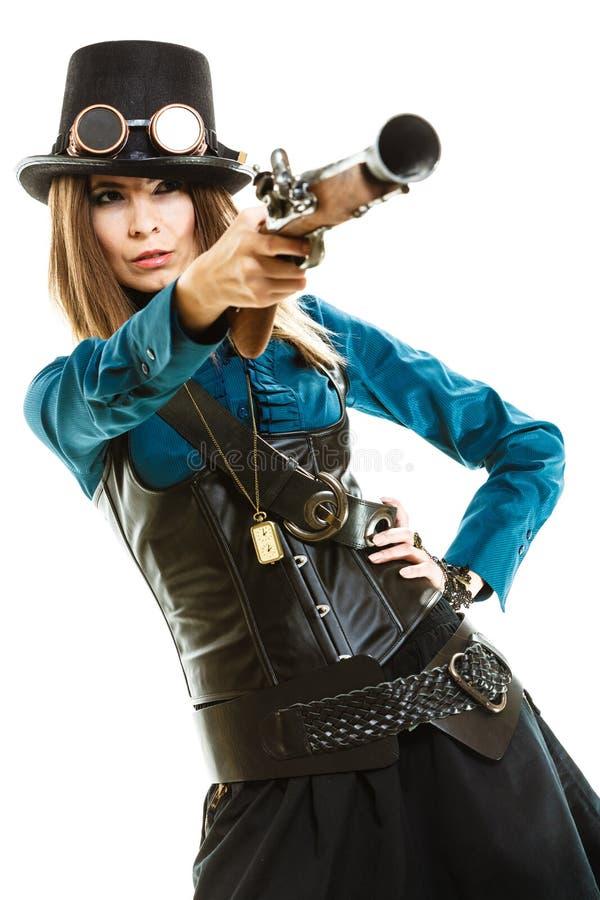 В стиле фанк девушка в стиле steampunk стоковые фото