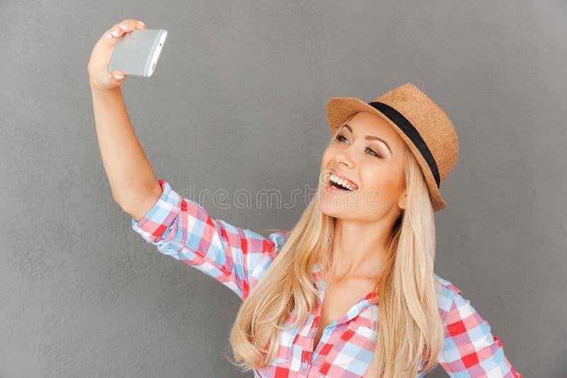 В стиле фанк selfie стоковое изображение
