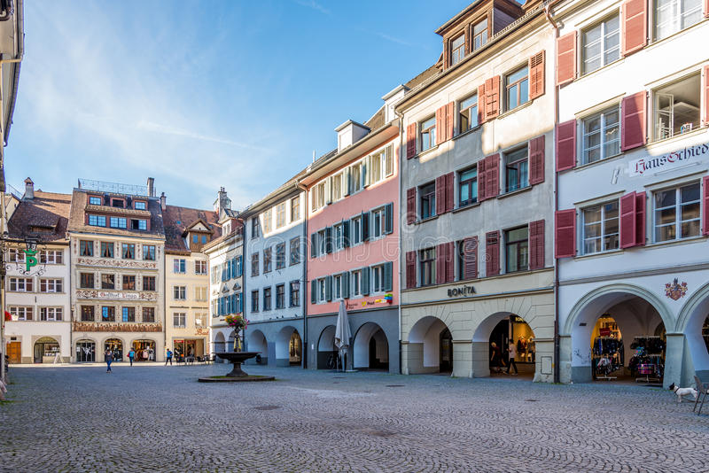 В улицах Feldkirch стоковое изображение