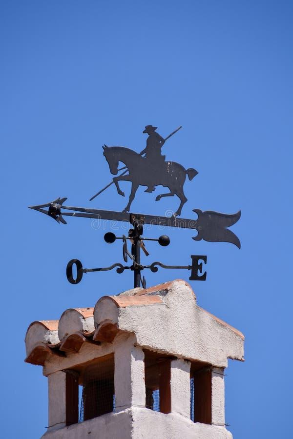 в форме Лошад лопасть погоды стоковое фото rf