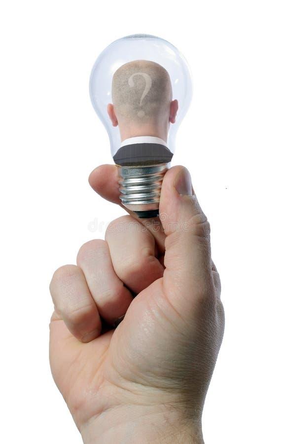 В электрической лампочке стоковая фотография rf