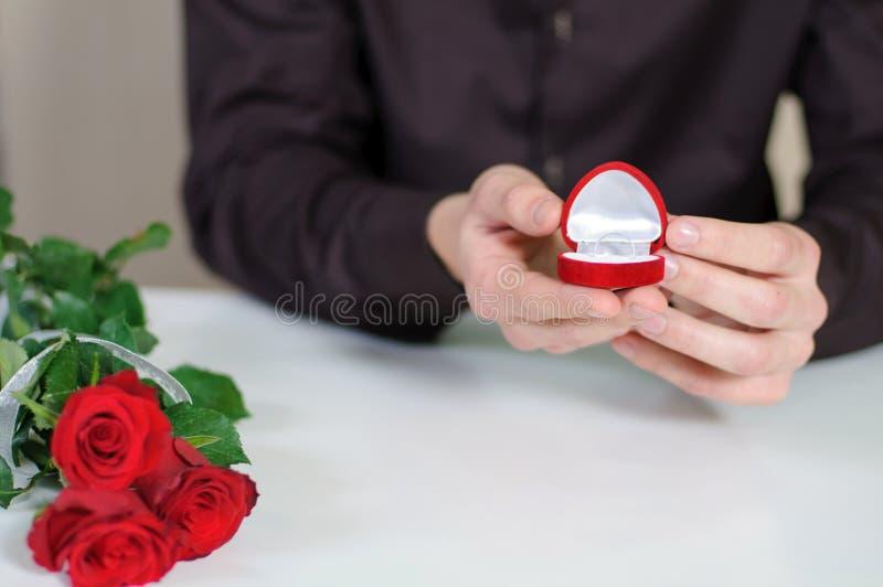 Влюбленность. День валентинок стоковое изображение rf