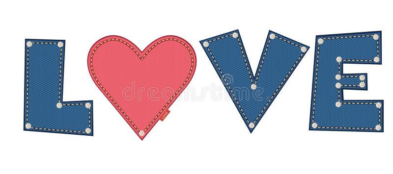 Влюбленность джинсовой ткани иллюстрация вектора