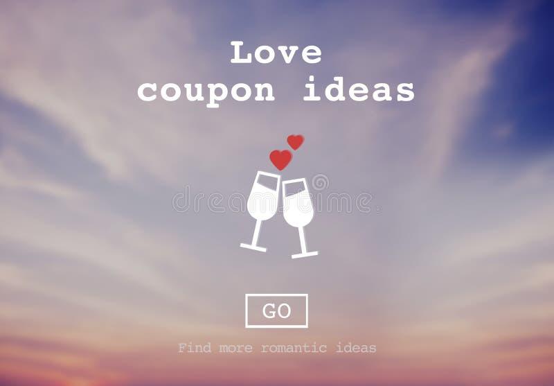 Влюбленность закавычит Romance концепцию вебсайта валентинок иллюстрация вектора