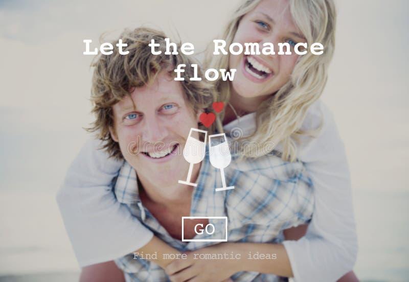 Влюбленность закавычит Romance концепцию вебсайта валентинок стоковая фотография rf