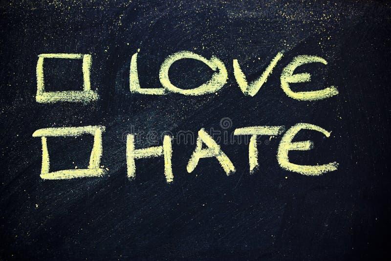 Влюбленность или ненависть? стоковое изображение