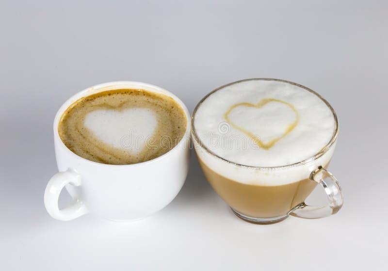 Влюбленность и кофе стоковая фотография rf