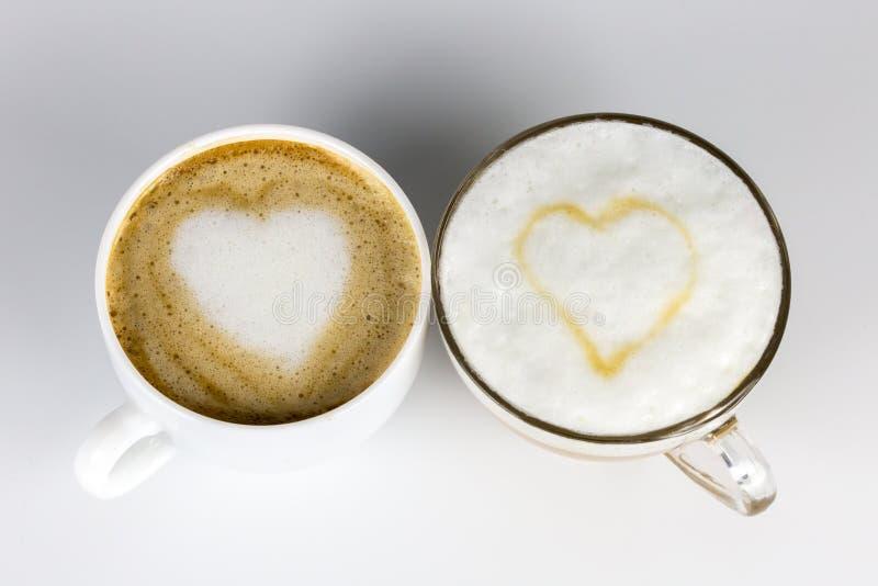 Влюбленность и кофе стоковая фотография
