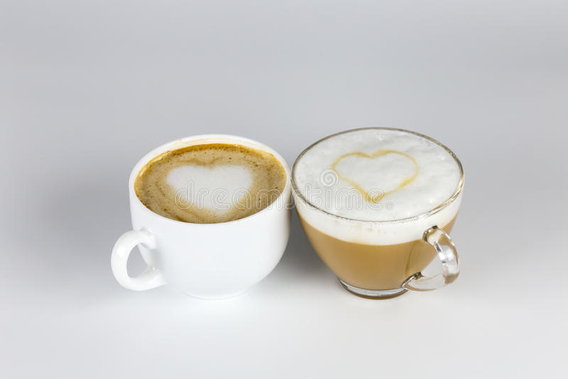 Влюбленность и кофе стоковые изображения rf