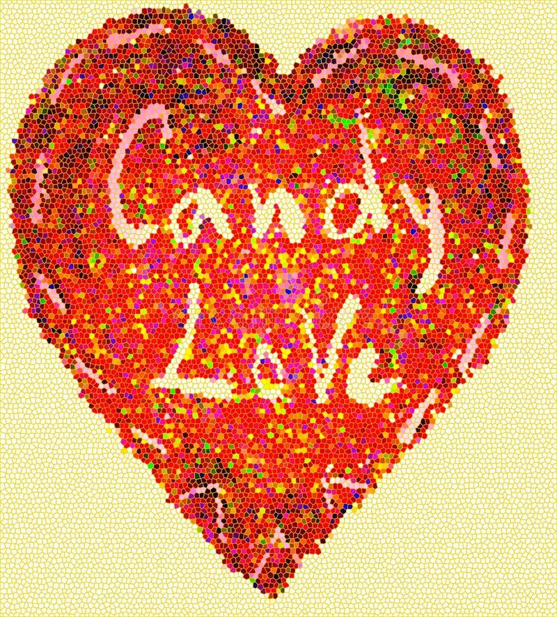 Влюбленность конфеты сердца мозаики стоковые фотографии rf