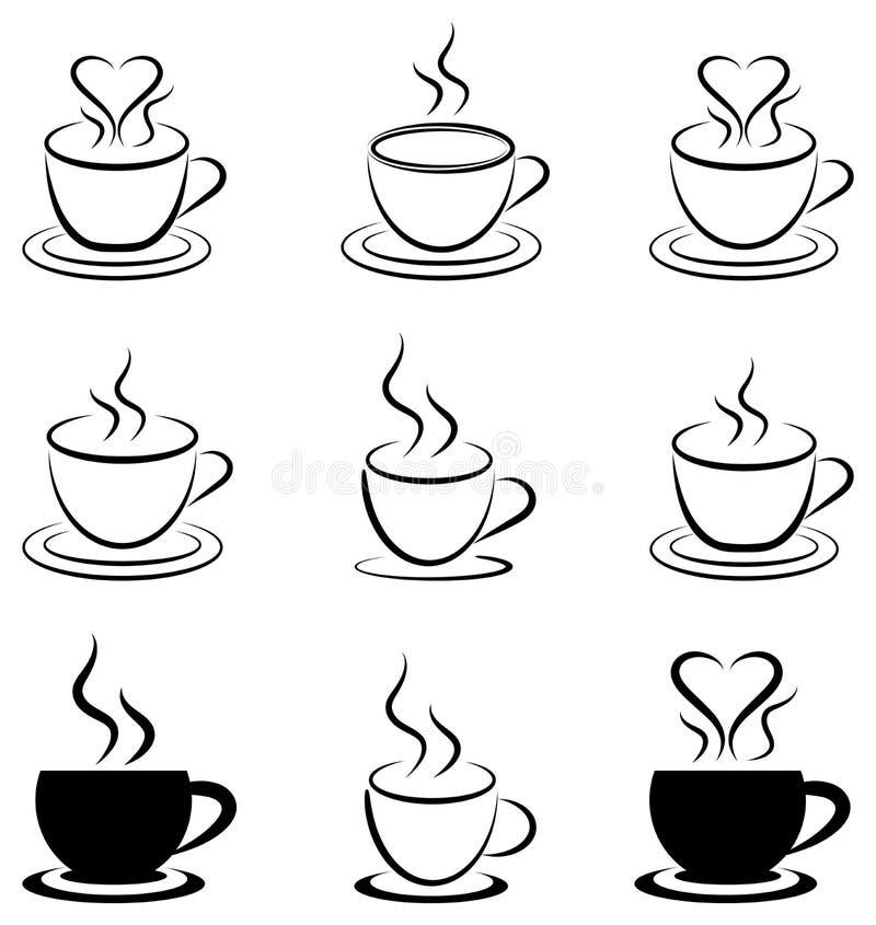 влюбленность кофе i иллюстрация штока