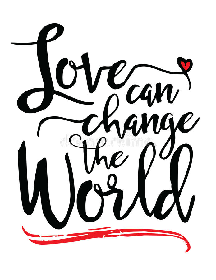 Влюбленность может изменить мир иллюстрация штока