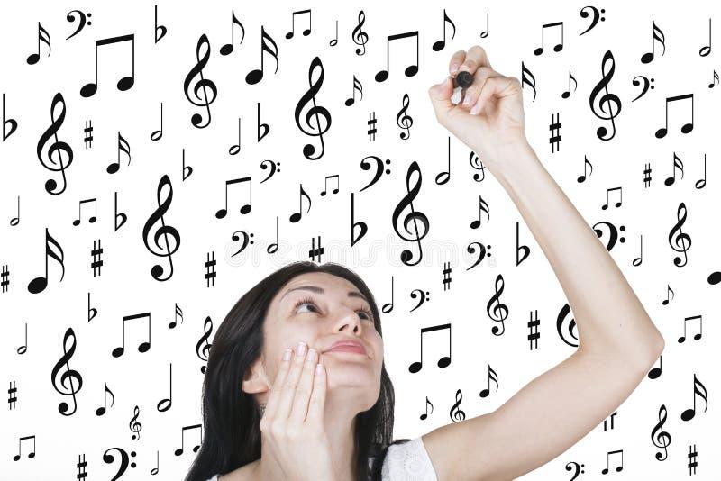 Влюбленность музыки композитора стоковые изображения