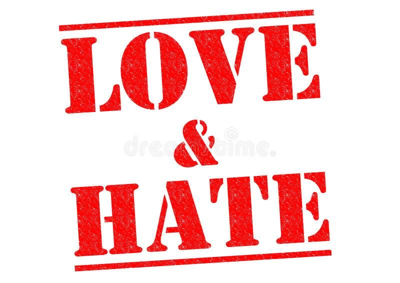 Влюбленность & ненависть иллюстрация вектора