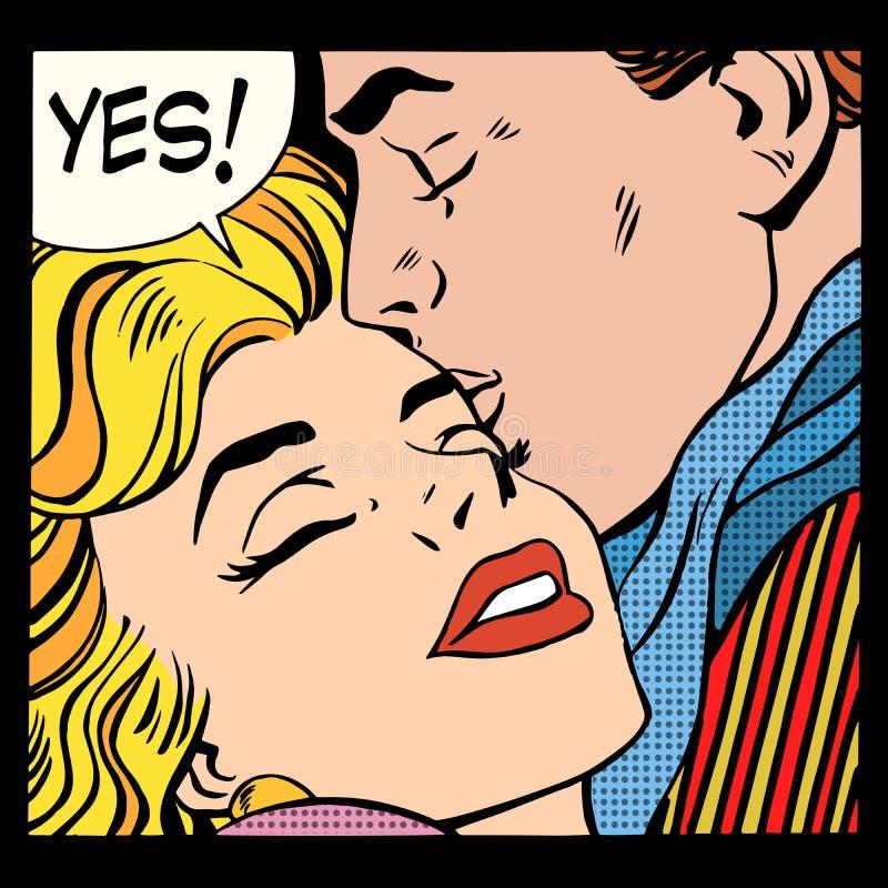 Влюбленность пар да бесплатная иллюстрация