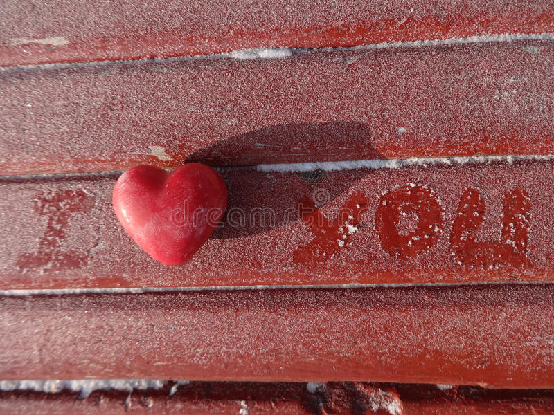 влюбленность письма сердца габарита стоковая фотография rf