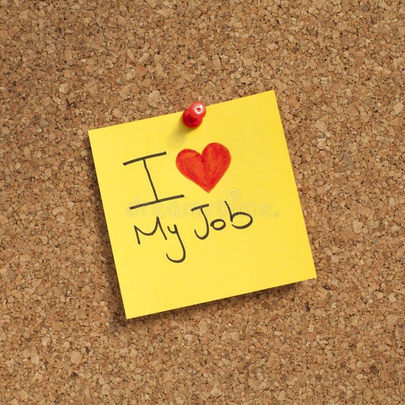 влюбленность работы i моя стоковое изображение