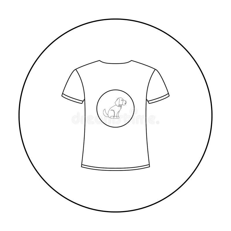Влюбленность рубашки i выслеживает значок вектора в стиле плана для сети иллюстрация вектора