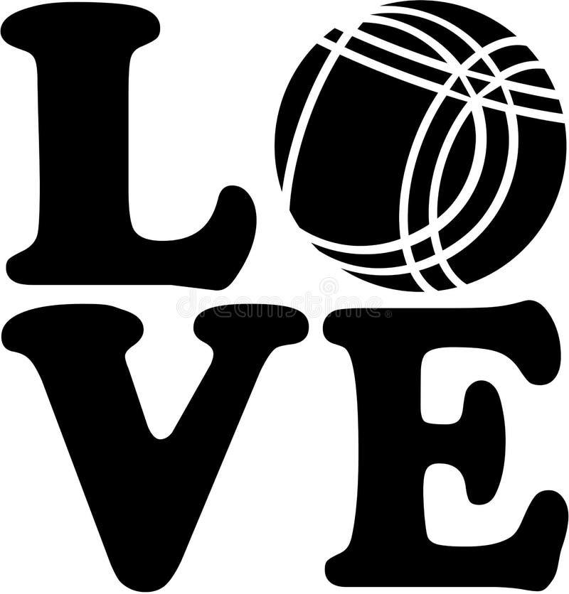 Влюбленность с шариком Bocce иллюстрация штока