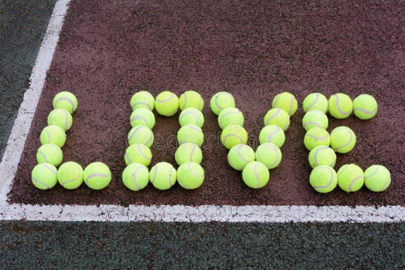 Влюбленность тенниса стоковая фотография rf