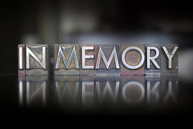 В Letterpress памяти стоковая фотография rf