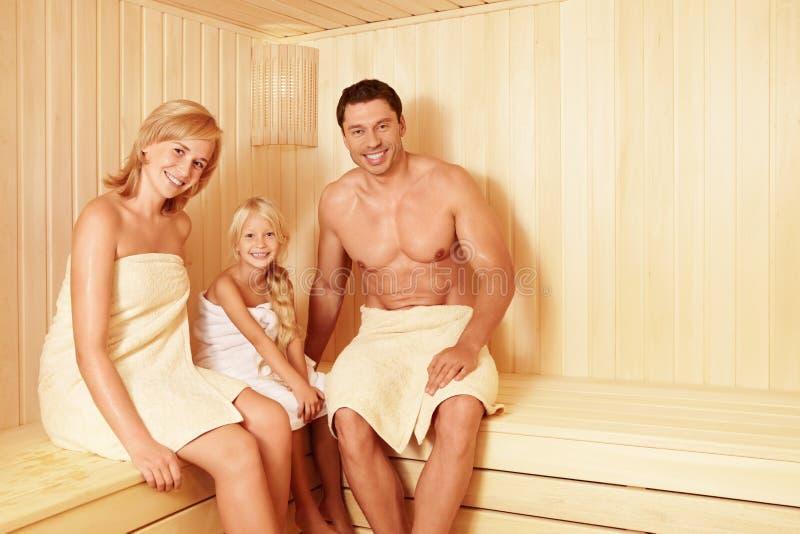 В sauna стоковое изображение rf