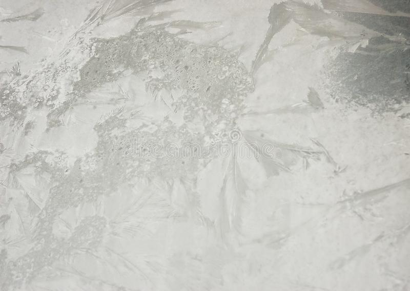 Ð'rawing frost on the glass royalty free stock photography