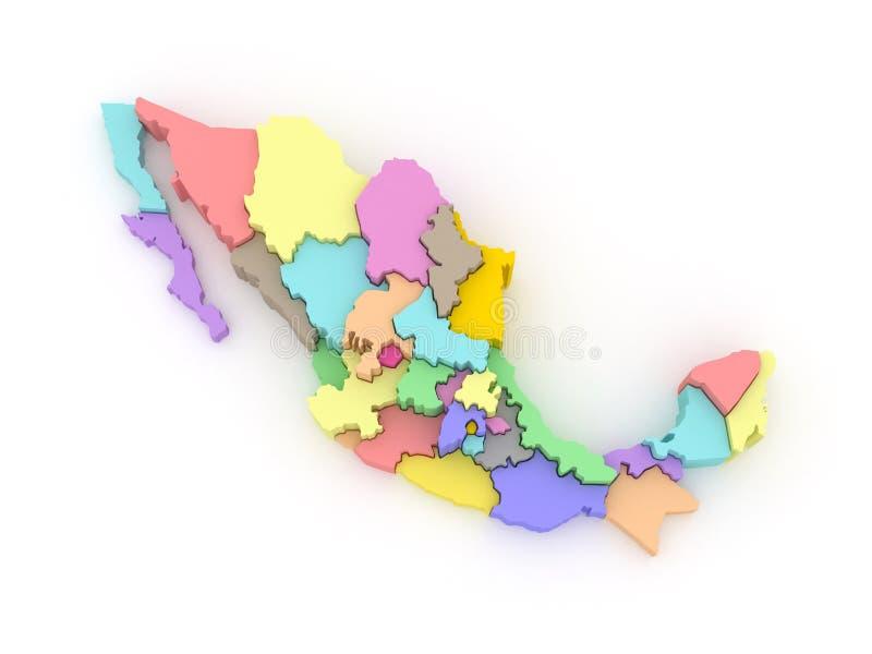 габаритная карта Мексика 3 бесплатная иллюстрация