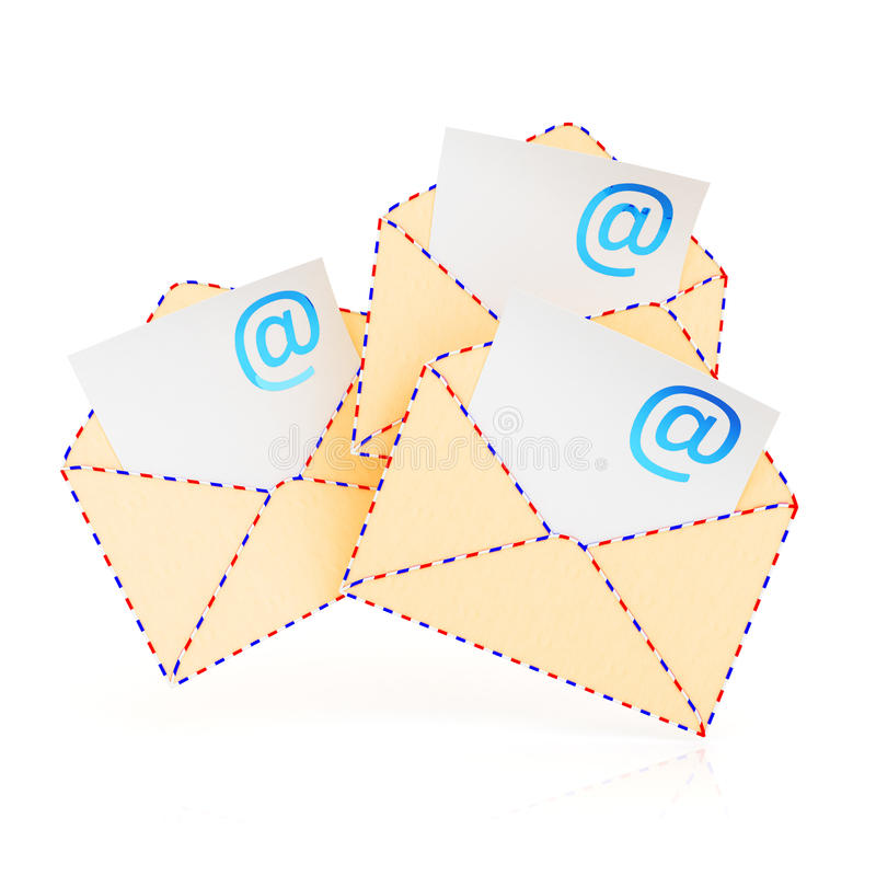 Габариты электронной почты иллюстрация вектора