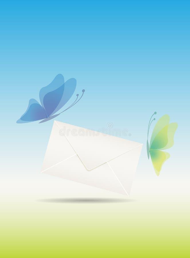 Габарит влюбленности с бабочками иллюстрация штока