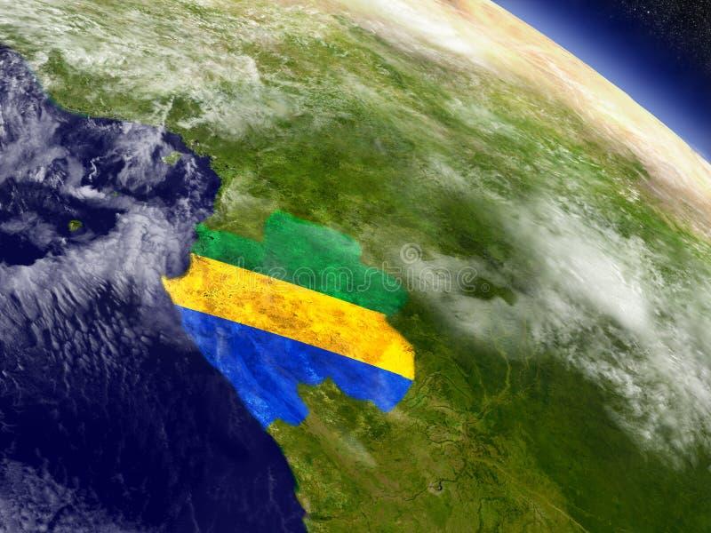 Download Габон с врезанным флагом на земле Иллюстрация штока - иллюстрации насчитывающей климат, orbiting: 81801506