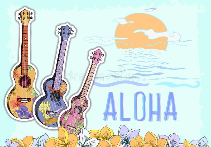 Гаваиская открытка бесплатная иллюстрация
