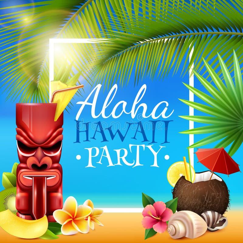 Гаваиская рамка партии иллюстрация штока