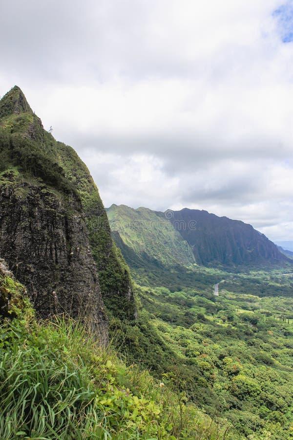 Гаваиский ландшафт горы стоковое фото