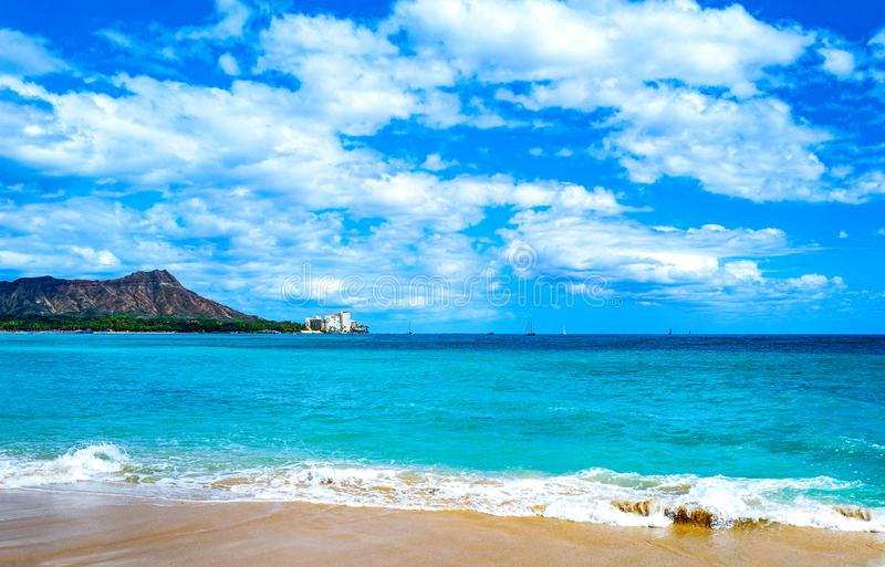Гаваи, природа, история и архитектура стоковое фото