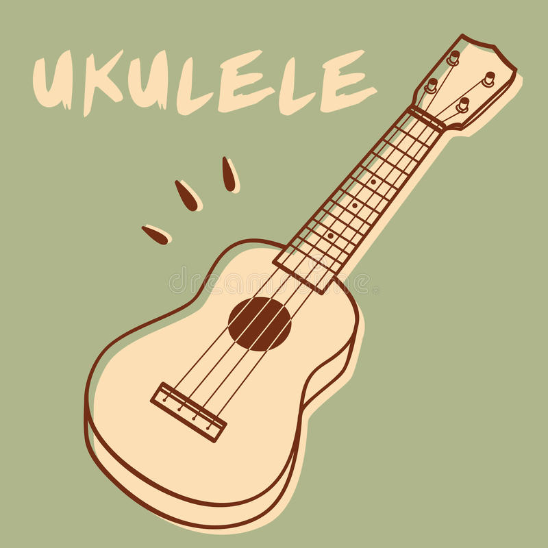 Гавайская гитара иллюстрация вектора