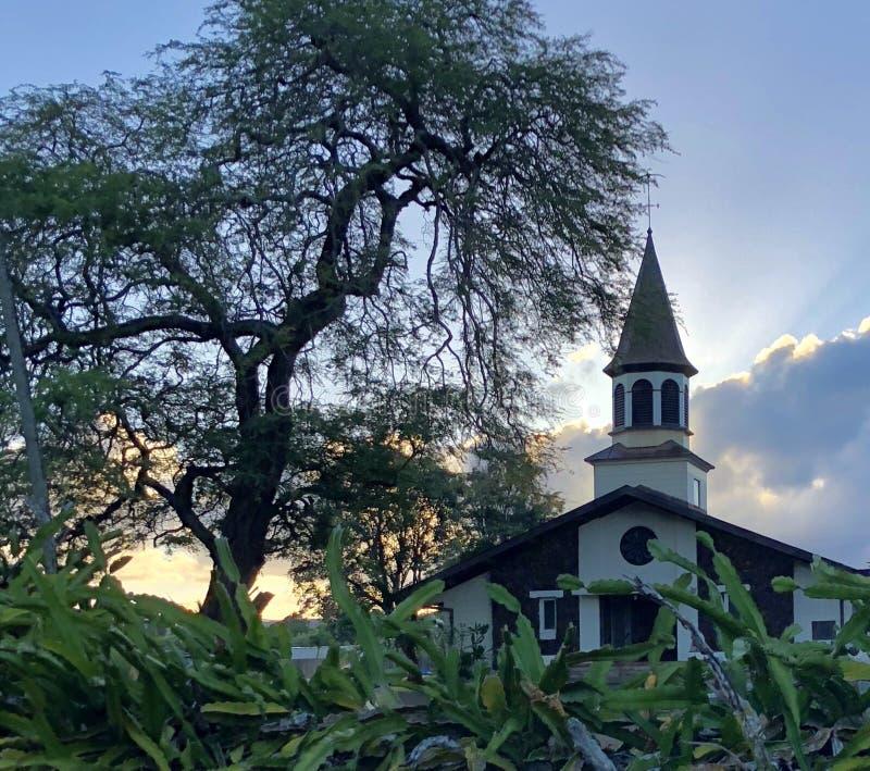Гавайская церковь стоковые фотографии rf