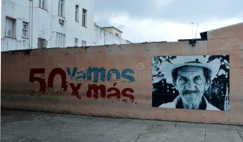 Гавана, Куба: Часть сопротивления серии настенной росписи стоковое изображение