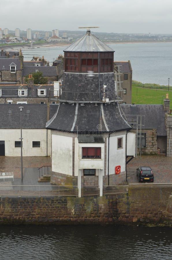 Гавань Абердина - Шотландии, главное ворот для индустрии нефти и газ Северного моря оффшорной стоковое изображение